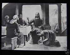 Glass Magic Lantern Slide WASHING THE FEET OF CHRIST C1910 CHRISTIAN RELIGION