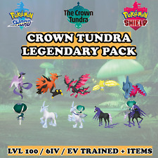 👑 Crown Tundra Legendary Pack 👑 6IV Pokemon Sword Shield Home Calyrex