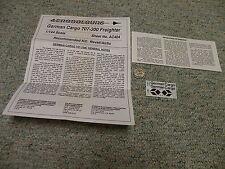 Aerocolours decals 1/144 Sheet#AC404 German Cargo  707-300 Freighter    Box 12