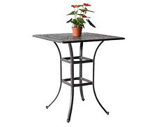 "Outdoor bar table 36"" square Elisabeth patio pool side cast aluminum furniture"