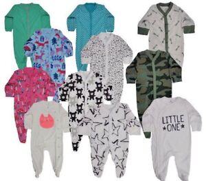Ex Store Baby Boy Girl Camo Cat Sleepsuits Babygrow x 1 0 3 6 9 12 18 24 Sale