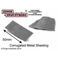 Zinge Industries Corrugated Iron Sheets X 5 Heat Shapable Scenery Bits S-CGI01