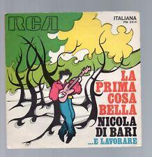 la prima cosa bella - nicola di bari   - disco vinile 45 giri - solo cover