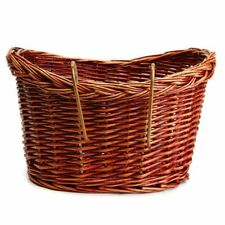 Vintage Wicker Bike Basket Brown Adjustable Strap Bicycle/Cycle/Shopping O3P4