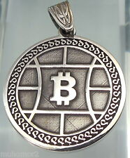 bitcoin Your personal QR wallet in Pendant Jewelry 925 sterling silver (c619)