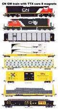 Canadian National TTX Rail Box, Rail Gon Freight Train 8 magnets Andy Fletcher