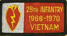 25th Infantry VIETNAM 1966-1970 Patch with VELCRO® brand fastener Military  #2