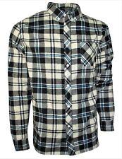 Plaid, Flannel Shirt for Men- Long Sleeve, Button Down in Medium - XXL