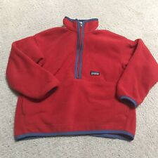 Patagonia Youth Synchila Pullover Red Size 7-8