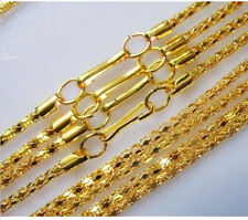 """Lots 20-1000pcs Silver/Gold plated Hollow Snake Chain Necklace Clasp Long,16.5"""""""