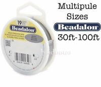 "Beadalon 19 Strand BRIGHT .010"" .012"" .015"" .018"" .021"" .024"" Flex Beading Wire"