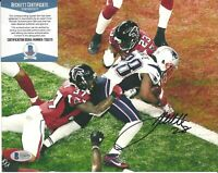 James White Signed Auto 8x10 SUPER BOWL Photo Beckett BAS COA Patriots