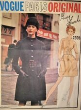 Vogue Paris Original Pattern 2305 Guy Laroche