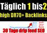 Backlinks 30 Tage SEO Linkaufbau Deutsche Dofollow High Suchmaschinenoptimierung