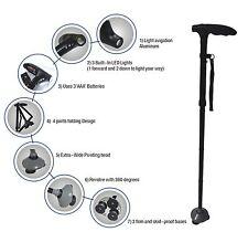 Walking Stick Adjustable Height Lights Folding Free Standing UK SUPPLIER!