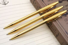 3pcs golden Twist Wave pattern of wire drawing process JINHAO Ballpoint Pen