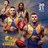 2021 West Coast Eagles 12 Months Wall Calendar Official AFL  Paper Pocket