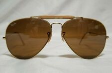 Vintage Ray Ban Bausch & Lomb Aviator 62014 Gold Tone Frame Sunglasses