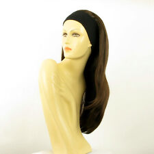 headband wig woman long chocolate copper wick ref: NIKITA 6H30
