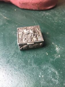 Vintage Pill Box Tests As Silver