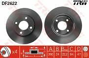 Ford Mondeo 1.6 1.8  2.0 Petrol 1.8 Diesel 93-99 Front Brake Discs  260mm vented