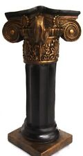 """Black Bronze color 15"""" Ionic Column Pedestal Statue Sculpture Home Decor"""