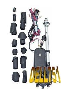 Fully automatic electric car aerial (Stainless Steel mast) incl: MICROPROCESSOR