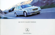 2001 Mercedes Benz C240 C320 C32 German Sales Brochure