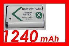 ★★★ 1240mAh BATTERIE Lithium ion ★★★ Pour SONY NP-BX1/NPBX1 /DSC-RX100 DSCRX100