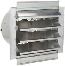 Industrial Exhaust Fan 14 in. Steel With Integrated Shutter Home Cooling OSHA