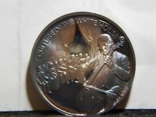 """John F. Kennedy Medal .999 Silver """"Culture In The White House""""  39mm  ...RC1446"""