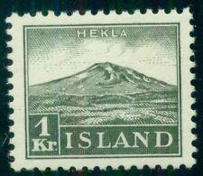 ICELAND #194, 1kr Hekla, og, NH, VF, Scott $170.00