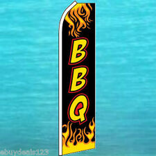 BBQ FEATHER FLUTTER FLAG Food Concession Swooper Advertising Sign Bow Banner