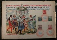 1940 Prague Bohemia Moravia Germany Souvenir Sheet Cover lazene and tourism