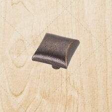 """Cabinet Hardware Square Knobs kc25 Antique Copper Machined pull 1"""""""