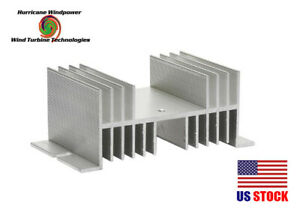 Aluminum Heat Sink 60A for Solid State Relay SSR for Wind Turbine Generator