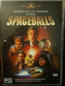 Spaceballs (DVD, 2004) REGION 2, John Candy, Mel Brooks, Rick Moranis  LIKE NEW
