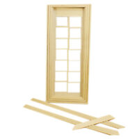 DIY 1:12 Dollhouse Miniatures Wood Door Unpainted Doll House Furniture Room T7U7
