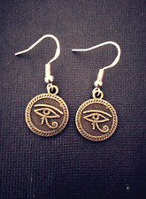 Bronze Eye Of Horus Earrings on .925 Hooks Egyptian Spirit Of Protection