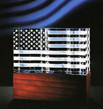 New listing New in Box Largest Steuben Glass Us Flag Stars Stripes liberty eagle & Base art