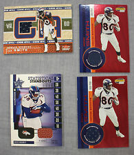 Rod Smith & Mike Anderson Denver Broncos 2001 Game Worn Jersey (4) Card #'d LOT