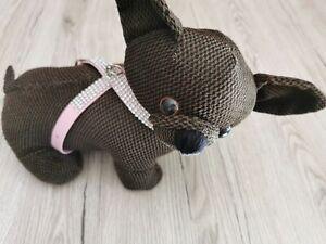 Mini Teacup Chihuahua Welpengeschirr extra leicht und soft in rosa XXS