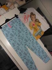 girls disney princess age 9-10 years blue/multi pyjarma set