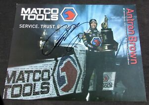 2017 Antron Brown Matco Tools Top Fuel NHRA Autographed HANDOUT/POSTCARD