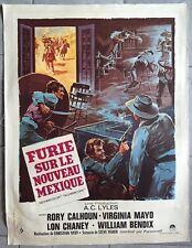 Affiche FURIE SUR LE NOUVEAU MEXIQUE Young Fury RORY CALHOUN Entoilée 60x80cm
