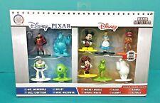 Disney Pixar Nano Metalfigs 10 Die Cast Metal Figures Set Mickey Kermit Buzz NIB