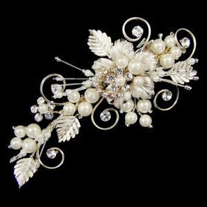 WHOLESALE STOCK CLEARANCE  Bridal Hair Clips x 6 - (3 Styles) (e13)