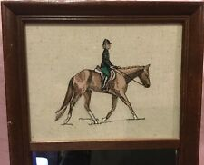 Equestrian Horse Rider Framed Cloth Picture and Mirror