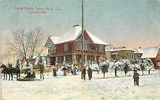 Vintage Postcard; Snow Scene Santa Rosa CA Jan. 6 1907 Sonoma County Unposted