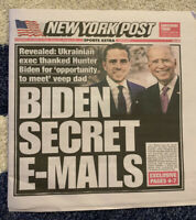 Biden Secret Emails New York Post October 14 2020 Newspaper Joe Hunter Trump